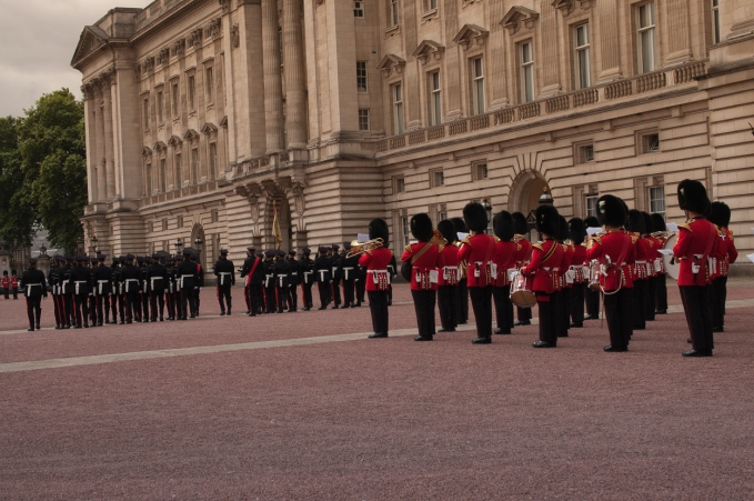 The band and the guard