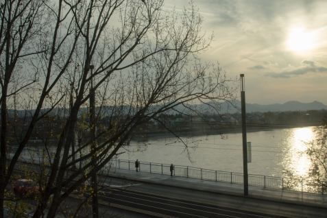 A view of the Rhine River.