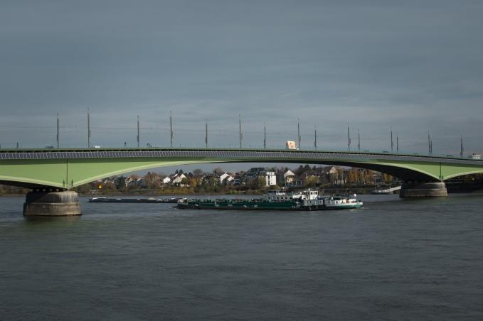 Bridge with solar panels
