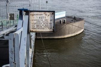Old sign by the river