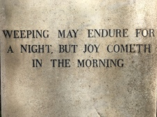 A comforting epitaph, found at the Non-Catholic Cemetery in Rome.